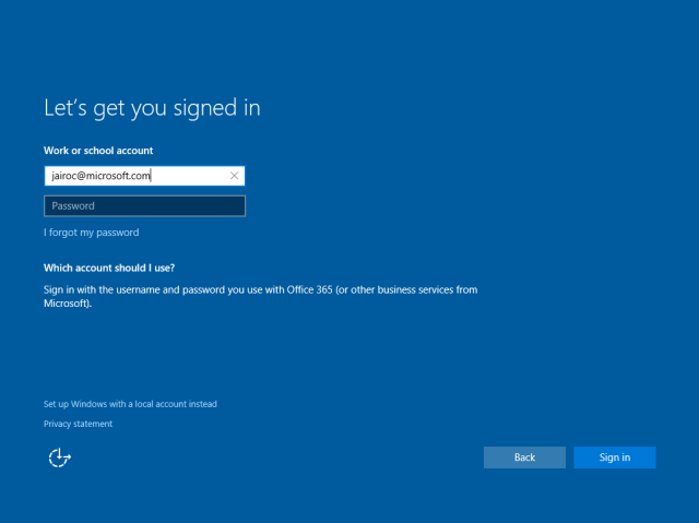 Sign In To Your Microsoft Account Blank Page